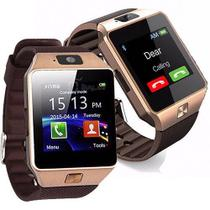 Relogio 2017 Smart Watch Dz09 Android Celular Chip Bluetooth Dourado