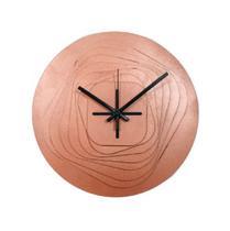 Relógio 3D Bronze decoração Sala Cozinha Escritório - Az Design