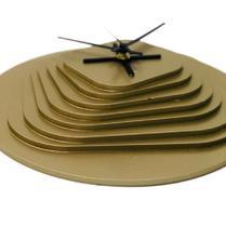 Relógio 3D Dourado decoração Sala Cozinha Escritório Quarto - Az Design