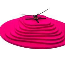 Relógio 3D Rosa decoração Sala Cozinha Escritório - Az Design