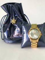 Relógio Allora Dourado 5atm 130006 -