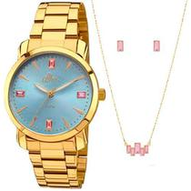 Relógio Allora Feminino Al2035faq/K4a+Conjunto Folheado 18k -