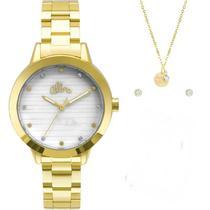 Relógio Allora Feminino AL2036FLV/K4B + Colar e Brincos -