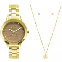 Relógio Allora Feminino AL2036FLV/K4M + Colar e Brincos -