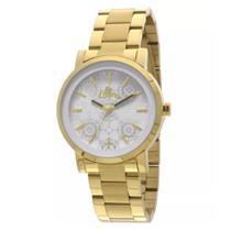 Relógio allora feminino dourado ref. al2035eza/4b -