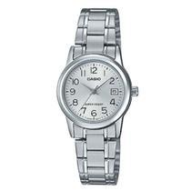 Relógio Analógico Feminino Casio LTP-V002D-7BUDF - Prata -