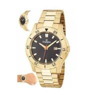 64ffe3a35b9 Relógio Analógico Masculino Dourado Champion Ca31337u