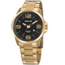 Relógio Analógico Masculino Seculus Dourado 20930GPSVDA2 -