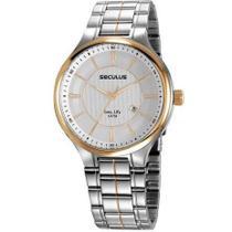 Relógio Analógico Seculus Masculino Long Life 23668GPSVBA1 -