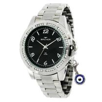 Relógio backer feminino 10634123fpr prata -