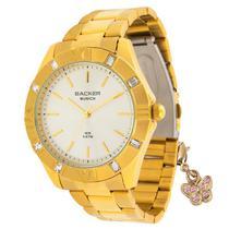 Relógio backer feminino 33590052 dourado com pingente -