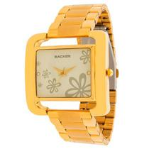 Relógio backer feminino 3450145lbr dourado -
