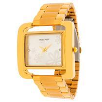Relógio backer feminino 3452145lbr dourado flor -