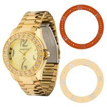 Relógio backer feminino  kassel troca aro 3308145f ch -