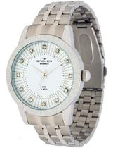Relógio backer feminino prata3608123f br -