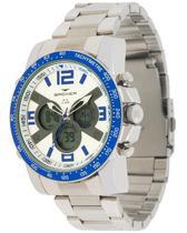 Relógio backer masculino prata 3573323m br -