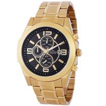 Relógio Backer Masculino Ref: 11002675m Cronógrafo Dourado Aço -