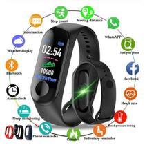 Relógio Bluetooth Inteligente Smartband M3 Monitor Cardiaco Lançamento -