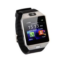 Relógio Bluetooth Smartwatch Dz09 Iphone Android Gear Chip - Preto-Prata - Smartwach
