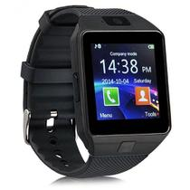 c84c21cd5f1 Relógio Bluetooth Smartwatch Ge Chip Dz09 Iphone Android Preto