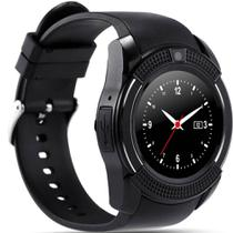 Relógio Bluetooth Smartwatch Gear Chip V8 Iphone E Android Preto - Odc