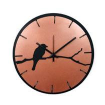 Relógio Bronze com passarinho decoração Sala Cozinha - Az Design