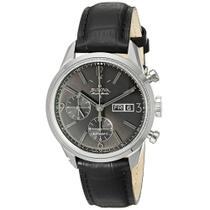 Relógio Bulova Accu Swiss Masculino 63C115 Pulseira De Couro Preto -