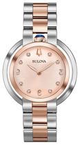Relógio Bulova Feminino Aço Prateado e Rosé - 98P174 -