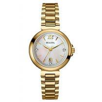 Relógio bulova feminino madreperola wb27930h -