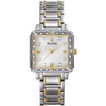 Relogio Bulova Ladies Square Diamond 98R112 -