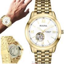 Relógio Bulova Masculino Automático Dourado WB32004H -