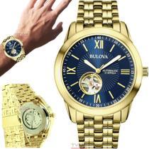 Relógio Bulova Masculino Automático Dourado WB32004Z -