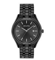 Relogio Bulova Masculino Black Stainless Steel Dress