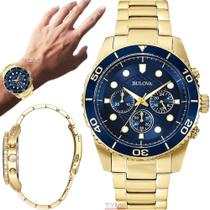 Relógio Bulova Masculino Dourado Cronógrafo WB31989Z -