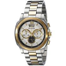 Relógio Bulova Masculino Ref: Wb30865s Cronógrafo Bicolor -