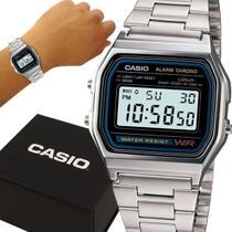 Relógio Casio Digital Vintage Prata Prova D'água com 1 ano de garantia -