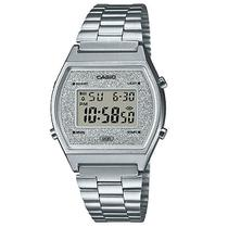 Relógio Casio Feminino Glitter Vintage Prata B640WDG-7DF -