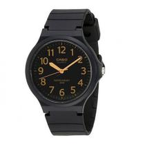Relógio Casio Masculino Analógico Preto Dourado Prova D'Água MW-240-1B2VDF -