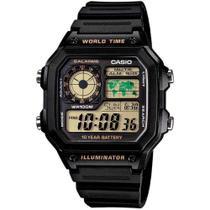 Relogio Casio Masculino Digital AE1200WH-1BVDF -