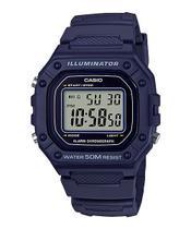 Relógio Casio Masculino Digital Azul Standard W-218H-2AVDF -