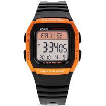 Relógio Casio Masculino Digital Laranja e Preto W-96H-4A2VDF -