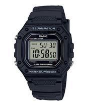 Relógio Casio Masculino Digital Preto W-218H-1AVDF -