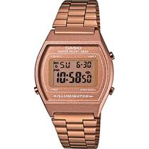 Relogio casio rose feminino retro b640wc5adf