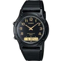 Relógio Casio Unissex Digital/Analógico Standard AW-49H-1BVDF -