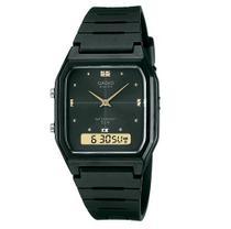 Relógio Casio Unissex Standard Anadigi Preto AW-48HE-1AVDF -