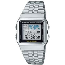 Relógio Casio Unissex Vintage World Time A500WA-1DF