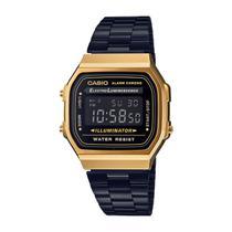 a96bf89d47b Relógio Casio Vintage Unissex Digital Fashion A168WEGB-1BDF-BR