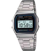 Relógio Casio Vintage Unissex Prata Digital A158WA-1DF -