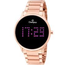 Relógio Champion Digital CH40035H Rosê  Digital 5 Atm Cristal Mineral Tamanho Grande -