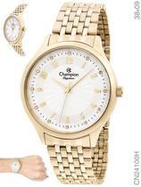 Relógio Champion Elegance CN24100H Quartz Pulseira Aço Dourado -